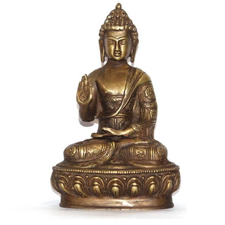 Meditating Buddha Brass Sculptures:  Artwork by M4design