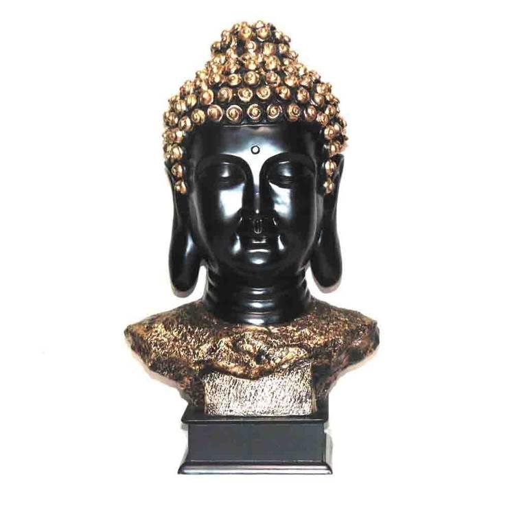 Polyresin Buddha Face Sculptue:  Artwork by M4design