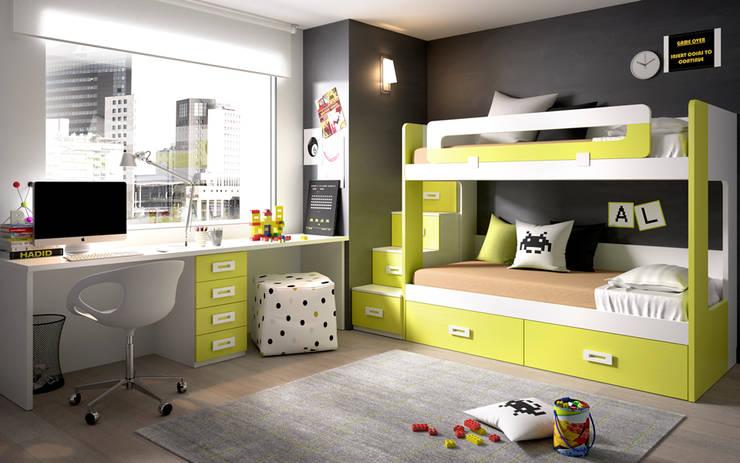 Habitaciones infantiles de estilo  por Mueblalia