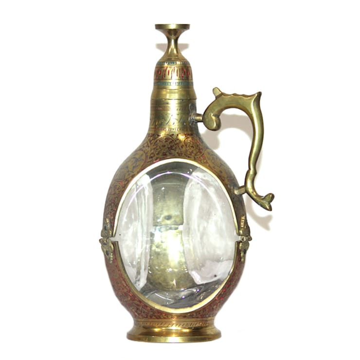 Antique Brass Whiskey Decanter with cork stop top:  Kitchen by M4design