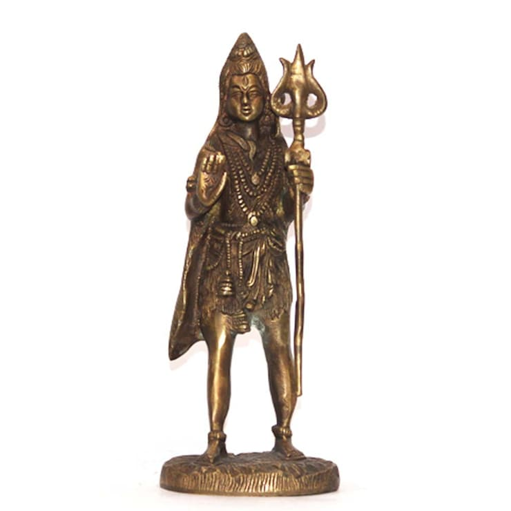 Lord Shiva Brass Statue –Indian Hindu  God:  Artwork by M4design