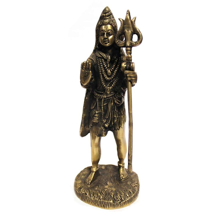 Indian Hindu God Shiva Antique Brass Sculpture:  Artwork by M4design