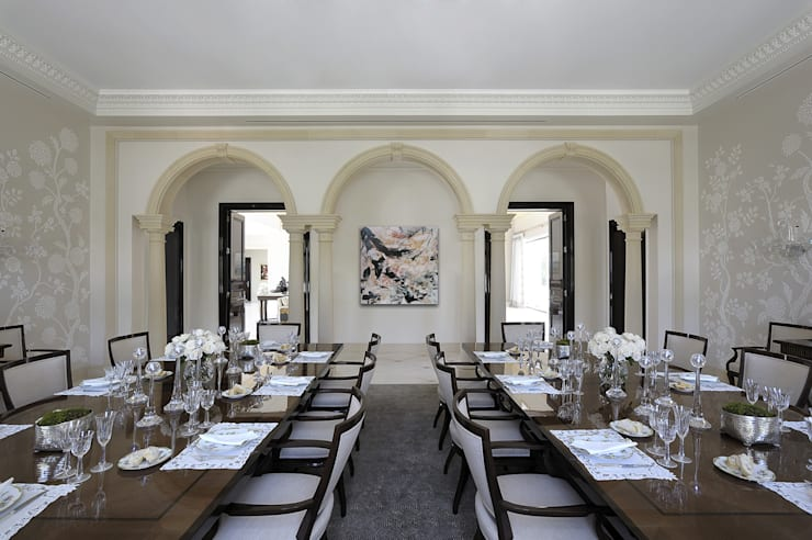 Residenza privata - Palm Beach, Florida - Dining room:  in stile  di Ti Effe Esse Interiors