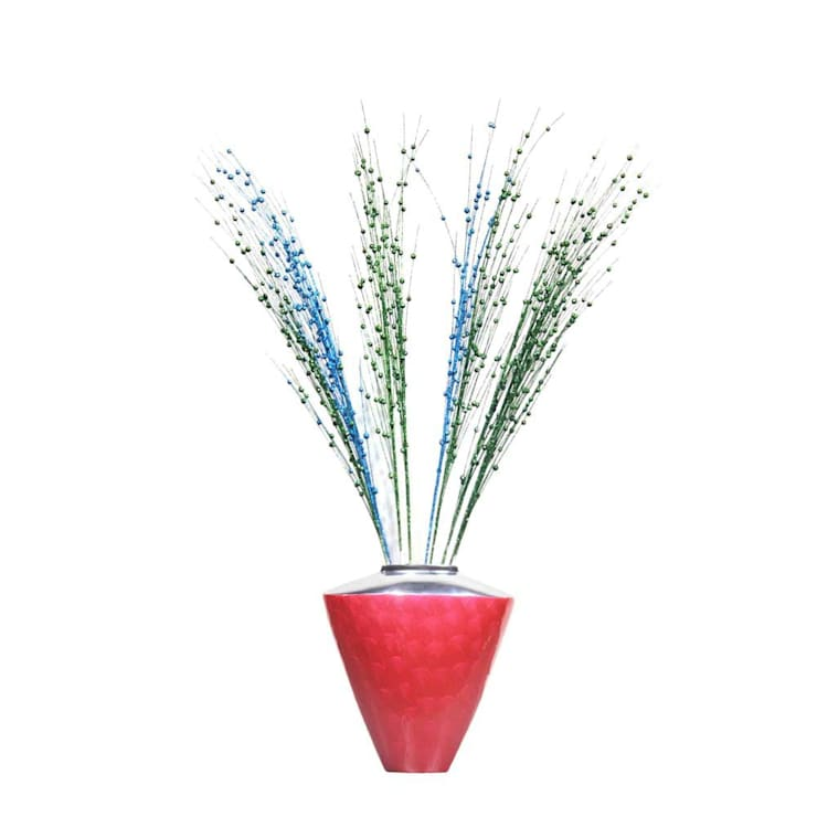 Red Enameled Flower Vase:  Garden  by M4design