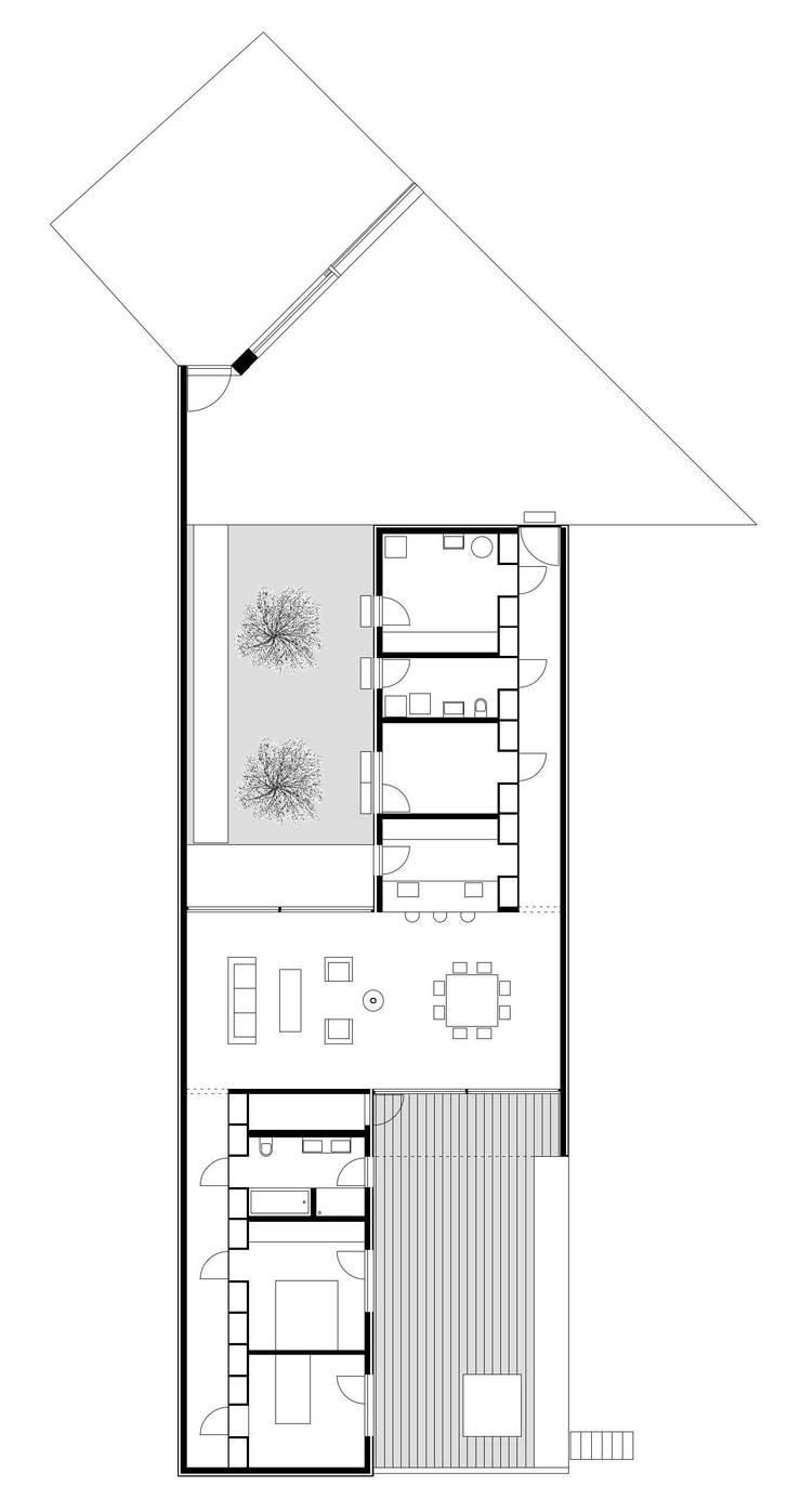 casa Sisini - Croci Torti: Casa in stile  di Cattaneo Brindelli architetti associati