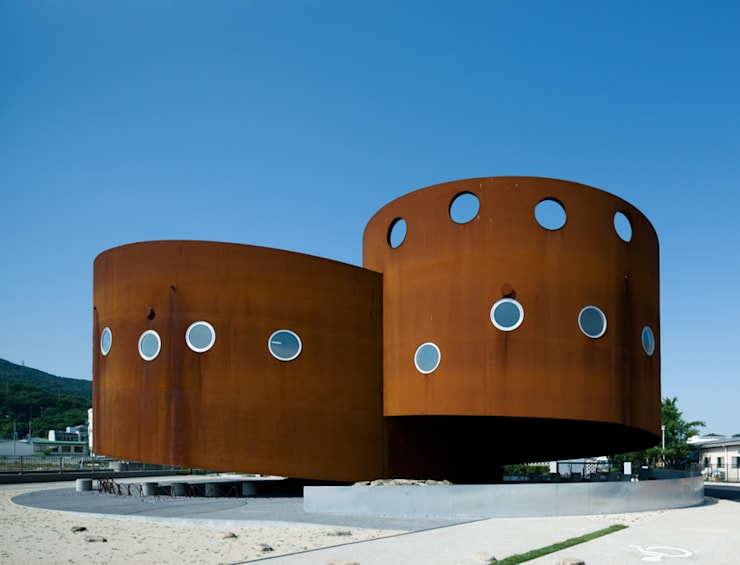Museos de estilo  por 遠藤秀平建築研究所/​Endo Shuhei Architect Institute
