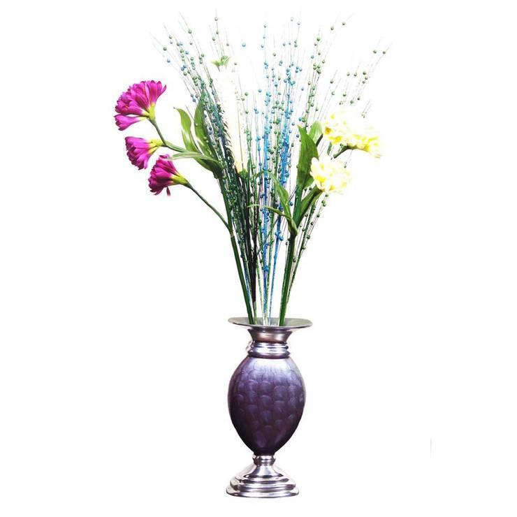 Blue Enameled Flower Vase:  Garden  by M4design