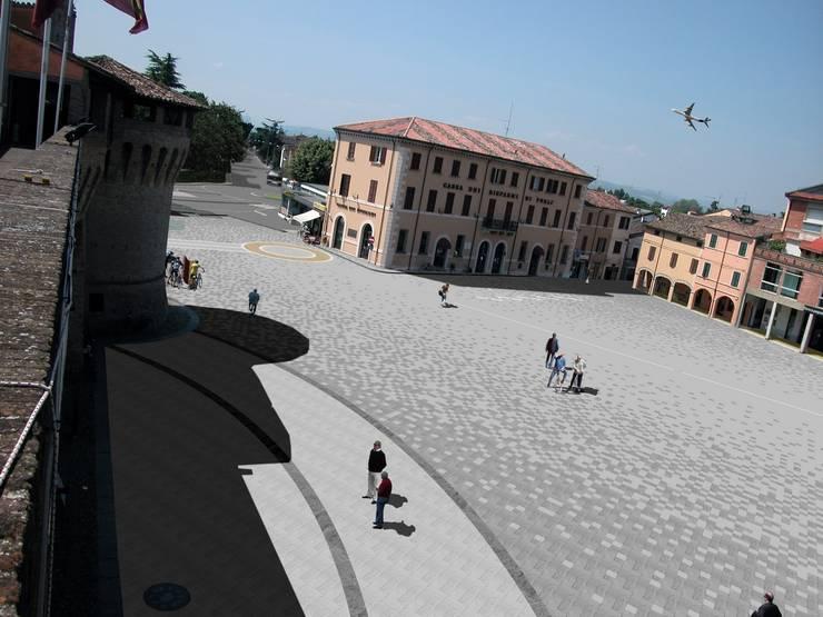 Piazza Garibaldi:  in stile  di Rudi Ulivi Architetto