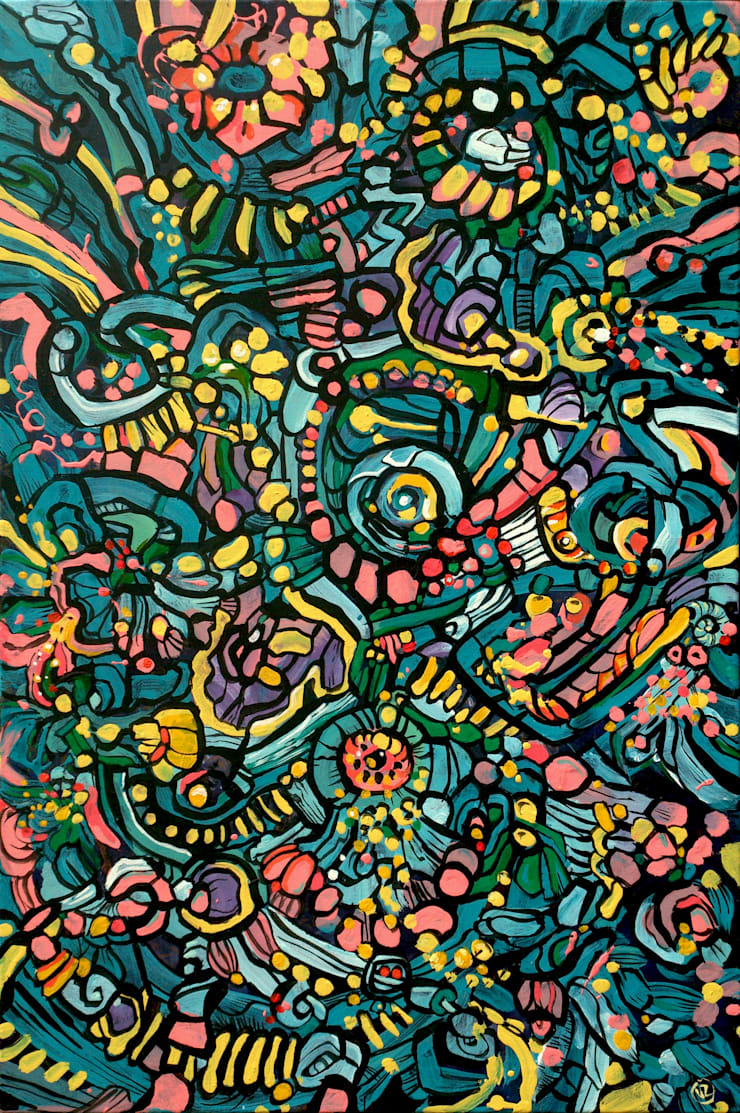 Abstract salad:  Artwork by Victoria Zukovska
