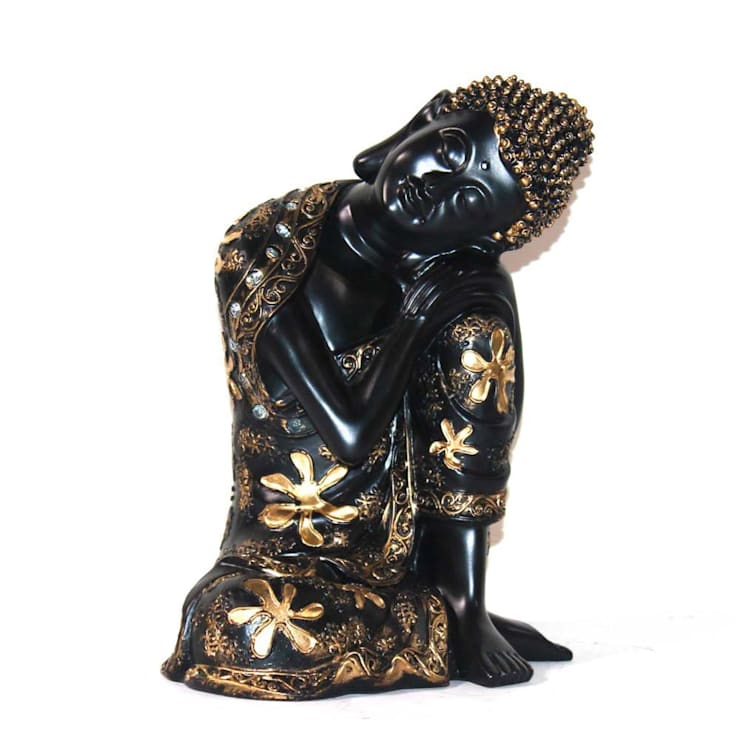 Polyresin Resting Buddha Statue:  Artwork by M4design