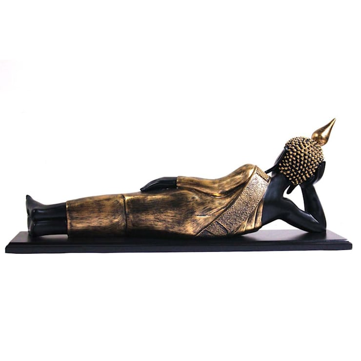 Thai Reclining Buddha Statue:  Artwork by M4design