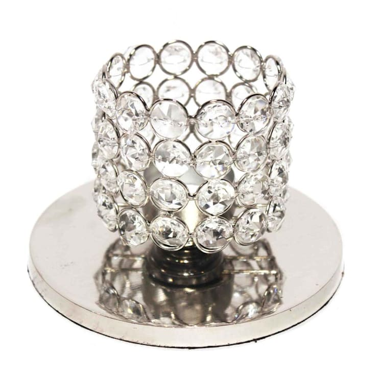 Crystal Cylinder Tealight Holders/ Seasonal Gifts: asian  by M4design,Asian