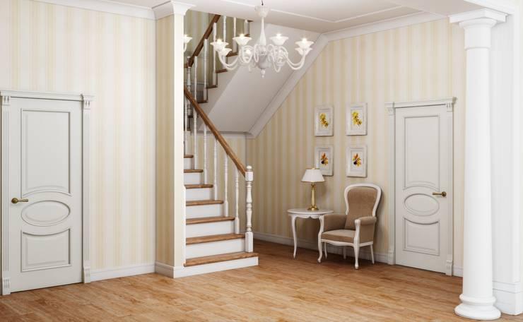 Дом в неоклассическом стиле: Коридор и прихожая в . Автор – Студия дизайна 'New Art'