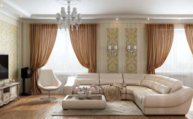 Дом в неоклассическом стиле: Гостиная в . Автор – Студия дизайна 'New Art'