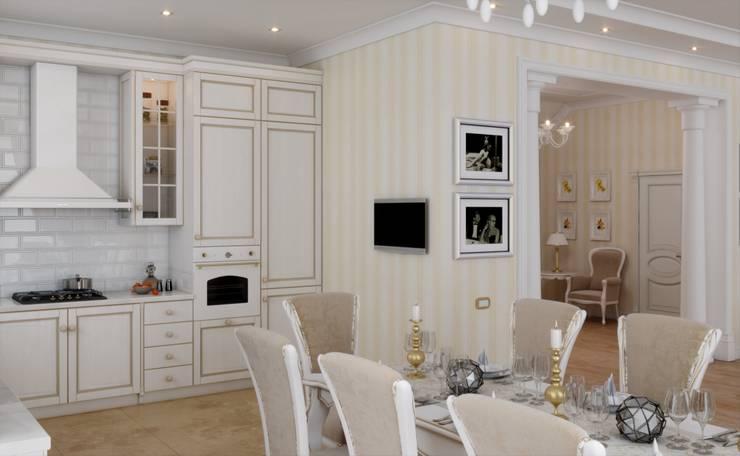 Дом в неоклассическом стиле: Кухни в . Автор – Студия дизайна 'New Art'