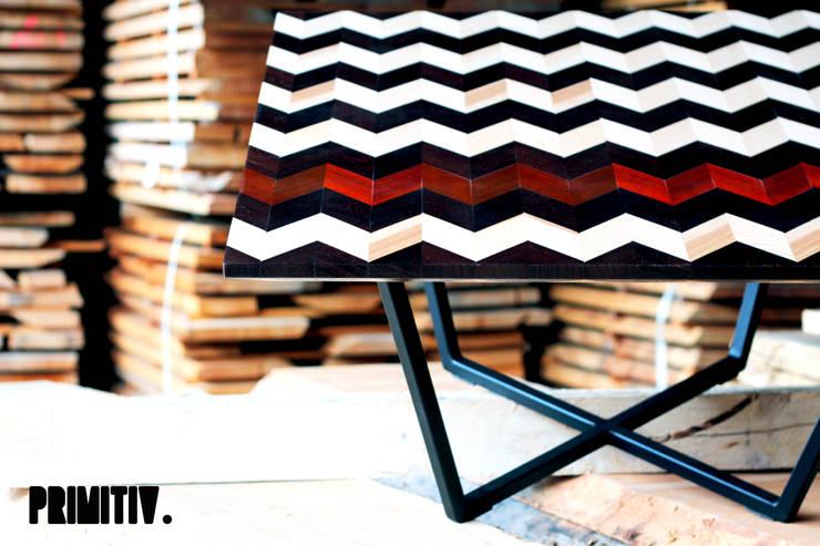 GRAPHIWOOD - ZEBRA: Salon de style  par PRIMITIV studio