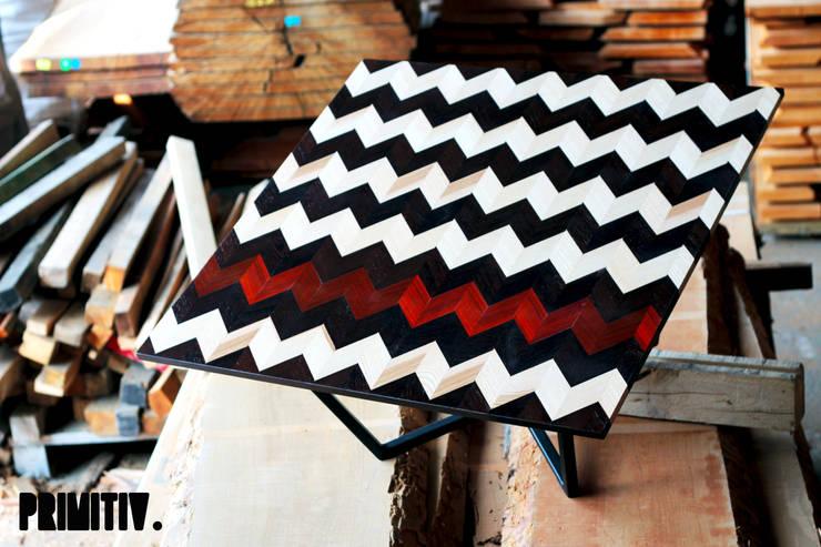 GRAPHIWOOD-ZEBRA.: Salon de style  par PRIMITIV studio