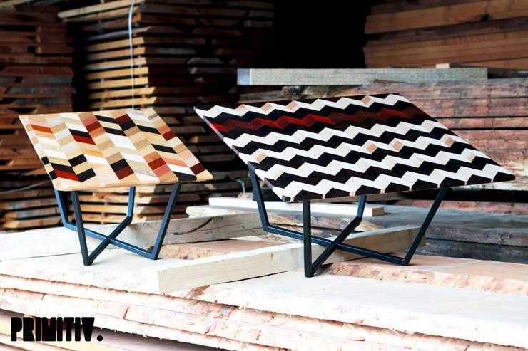 GRAPHIWOOD-MULTI.: Salon de style  par PRIMITIV studio