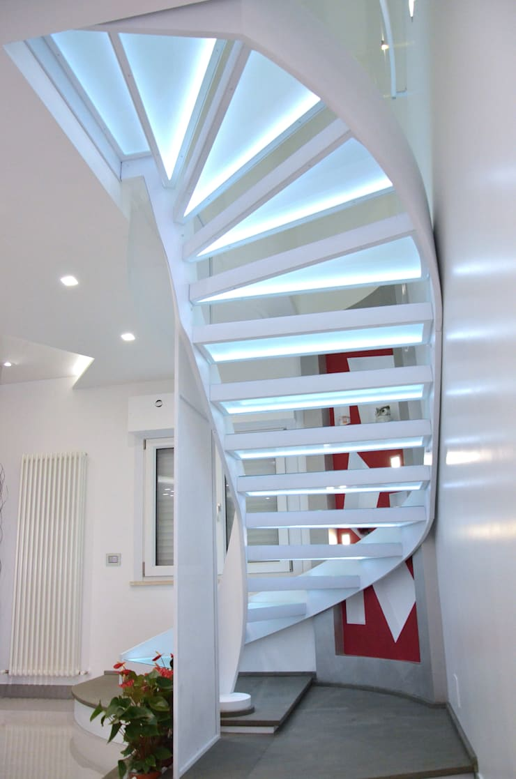 Forme con la luce: Soggiorno in stile  di Archea Project Studio, Moderno