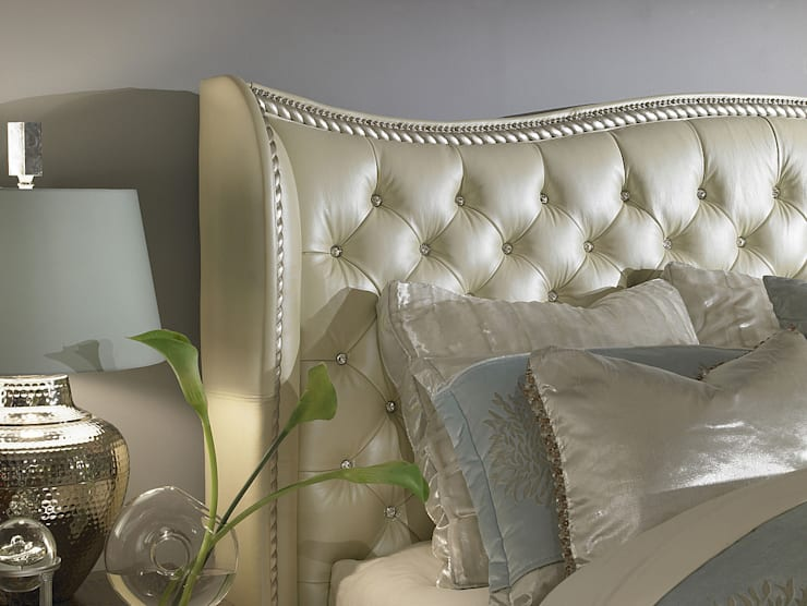 Queen Upholstered Bed:  Bedroom by Royz Furniture