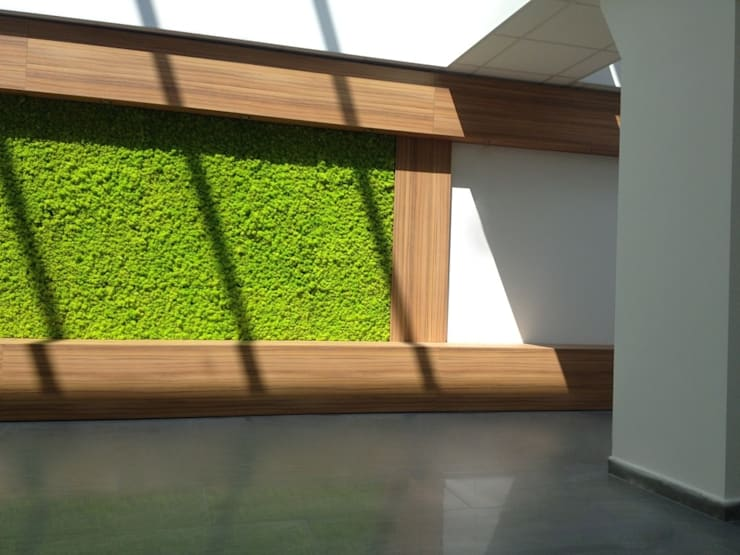GIARDINO VERTICALE: Complessi per uffici in stile  di Studio Pastore Architettura,