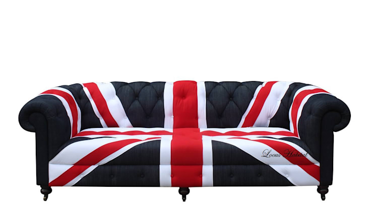 Union Jack Chesterfield Sofa:  Household by Locus Habitat