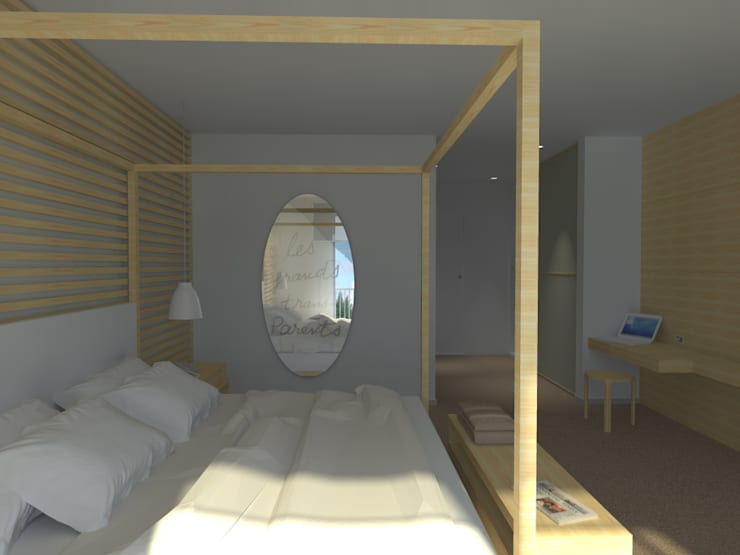 LIGHT BEDROOM: Hotel in stile  di Studio Frasson, Scandinavo