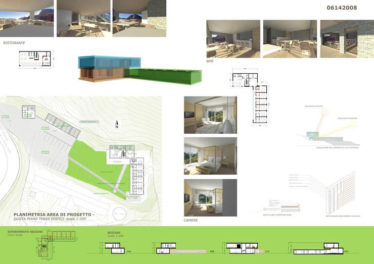 Riqualificazione di Malga Fosse comune di Siror – passo Rolle: Hotel in stile  di Studio Frasson,