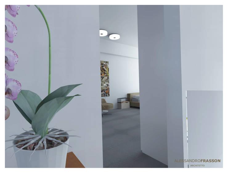 VILLA FR1 – Night: Camera da letto in stile  di Studio Frasson, Moderno