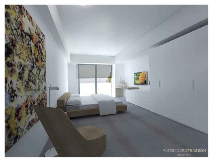 VILLA FR1 - Night: Camera da letto in stile  di Studio Frasson, Moderno