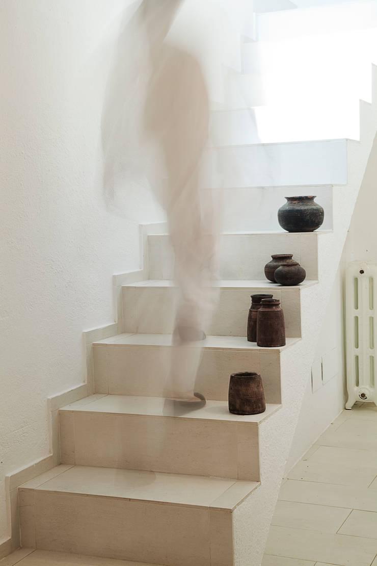 La scala: Ingresso & Corridoio in stile  di STUDIO PAOLA FAVRETTO SAGL - INTERIOR DESIGNER, Minimalista Cemento