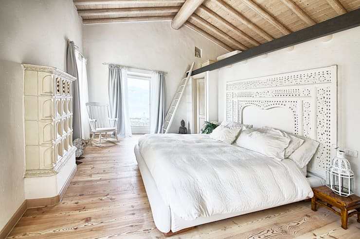 rustic Bedroom by STUDIO PAOLA FAVRETTO SAGL - INTERIOR DESIGNER