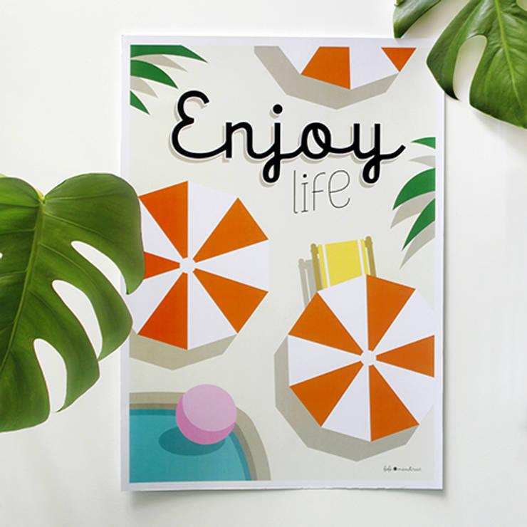 Affiche Enjoy life: Maison de style  par Fifi Mandirac