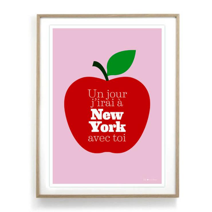 Affiche Un jour j'irai à New York avec toi: Maison de style  par Fifi Mandirac