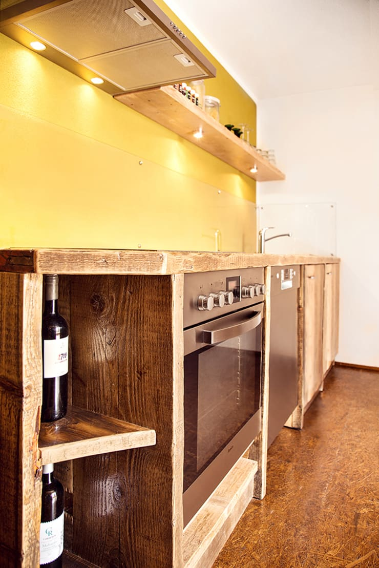 kitchen custom-made Rustic style kitchen by edictum - UNIKAT MOBILIAR Rustic