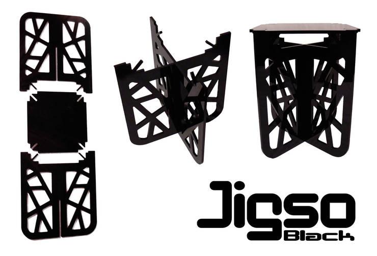 Gueridon Jigso noir: Salon de style  par Geraldesign