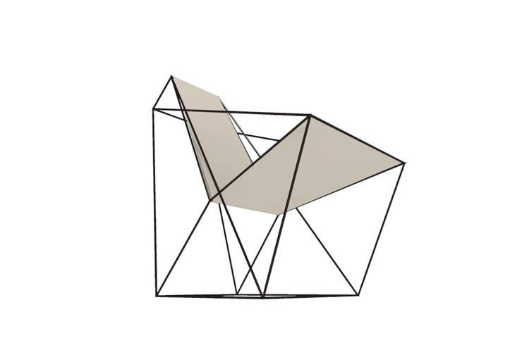 Fauteuil LEVIT: Salon de style  par Geraldesign