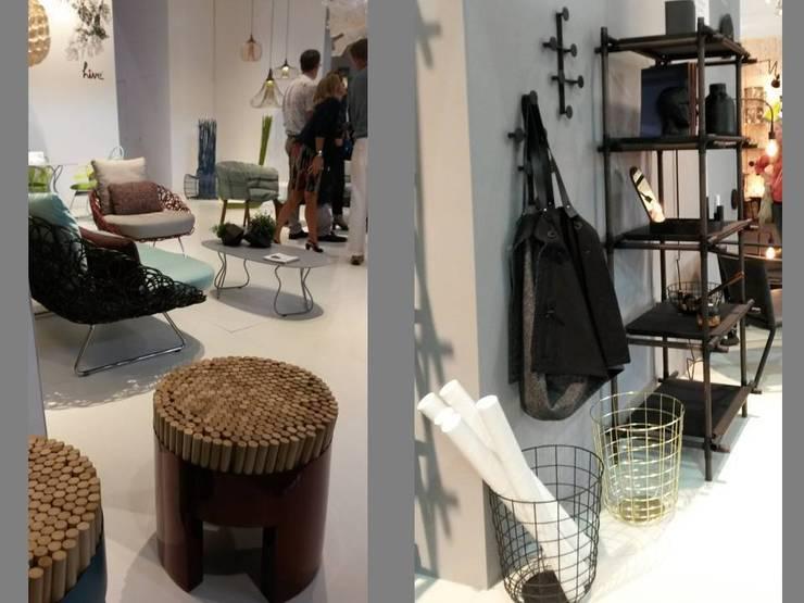 Métal et bois: Paysagisme d'intérieur de style  par Coaching VIP