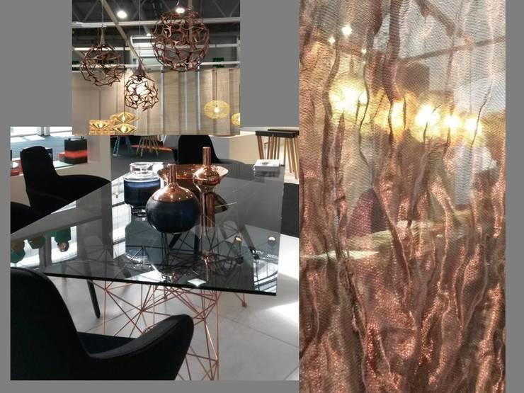 cuivre et transparences: Paysagisme d'intérieur de style  par Coaching VIP