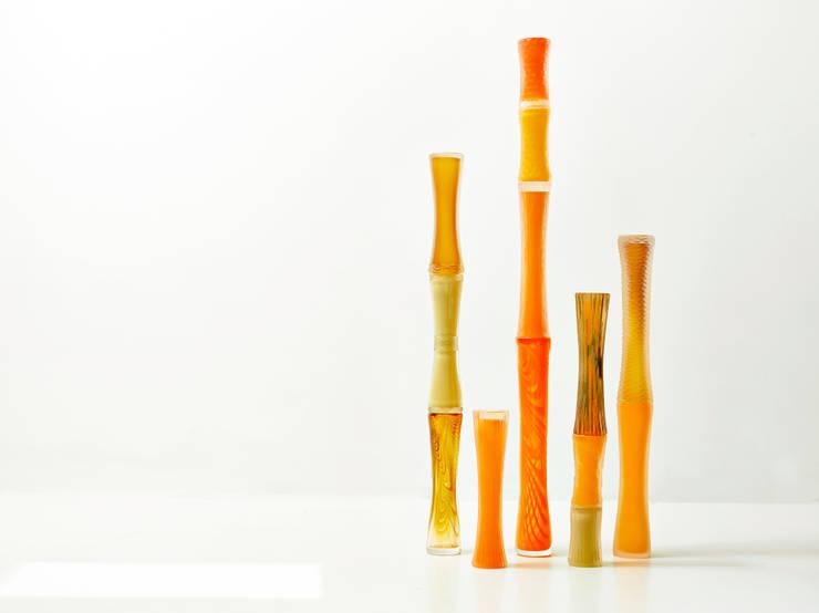 Bambous: Art de style  par PIERINI Sculpteur de verre