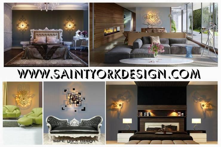 LUMINAIRE DESIGN: Maison de style  par SAINT YORK DESIGN