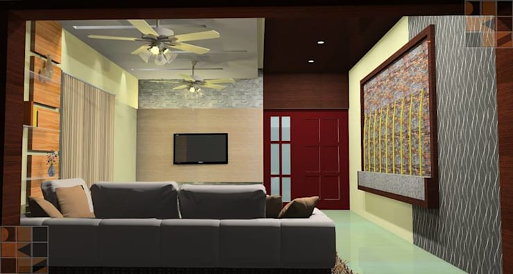 Proposed Residential Interiors for Mr. Vinoth, Mayiladuthurai, :   by Quadrantz Consultants