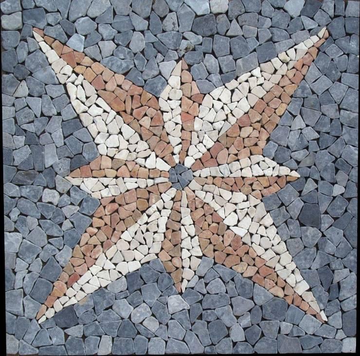 Exotisches Vintage - Mosaikfliesen fürs Bad:  Wände & Boden von Guru-Shop
