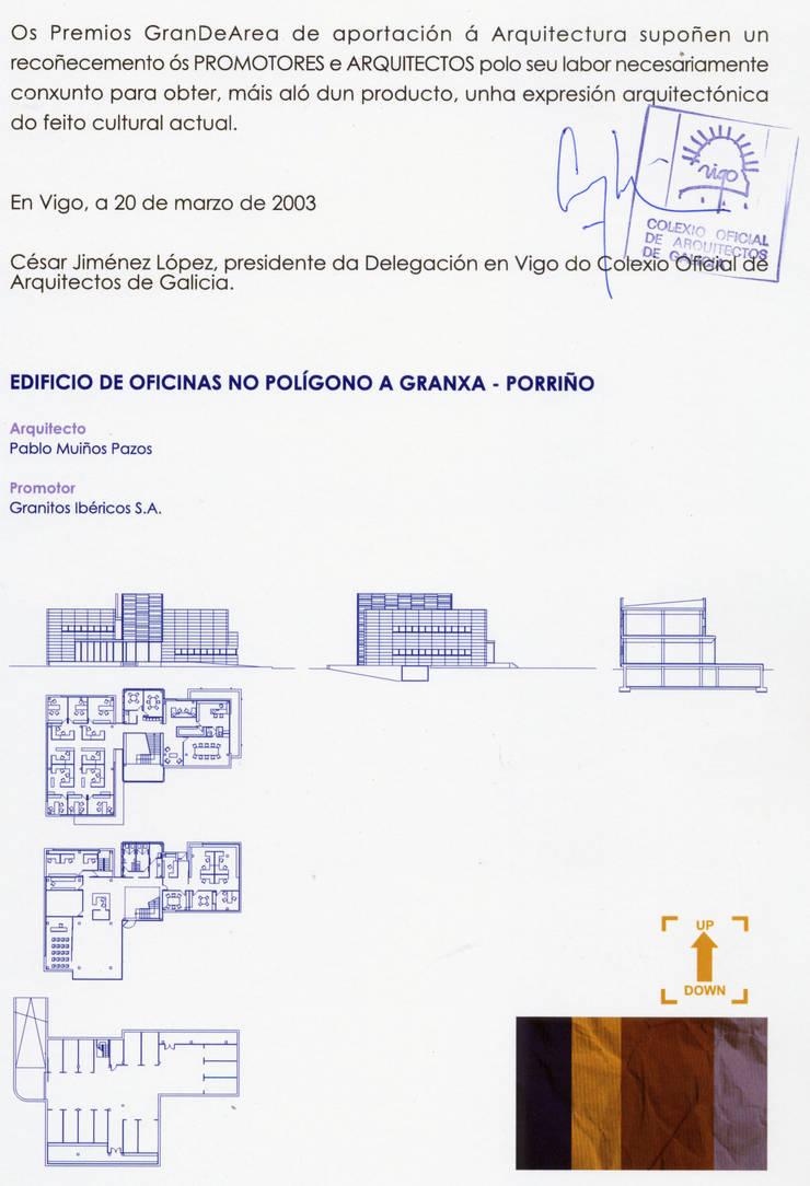 Edificio de oficinas para GI en Porriño: Edificios de oficinas de estilo  de MUIÑOS + CARBALLO arquitectos