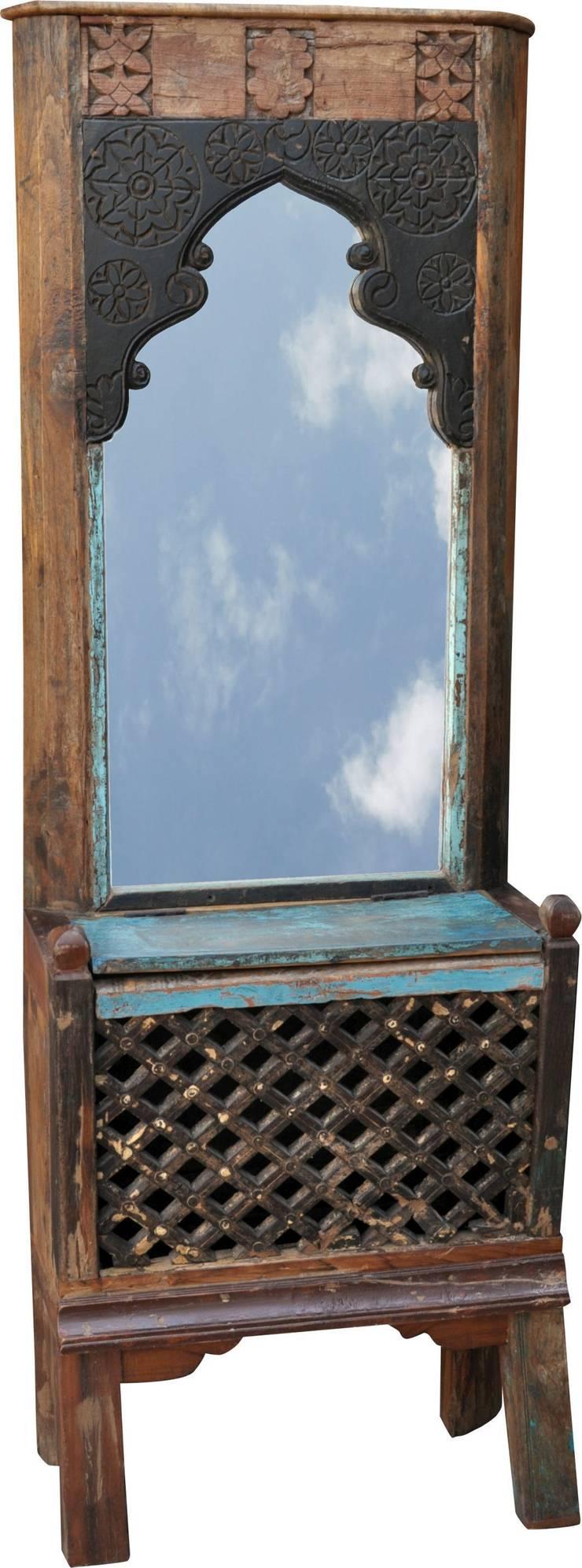 Exotisches Vintage - Spiegel fürs Bad:   von Guru-Shop,Asiatisch
