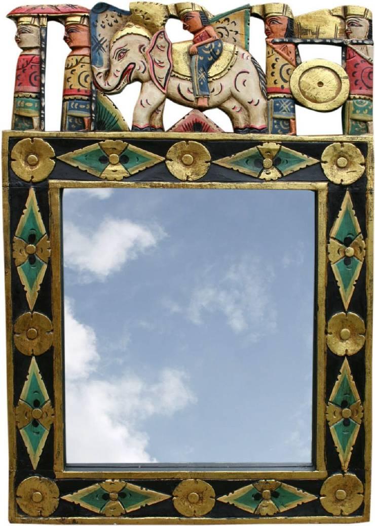 Exotisches Vintage – Spiegel fürs Bad:   von Guru-Shop,Asiatisch