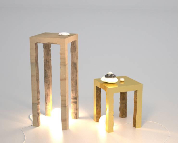 Console & table semi-sauvage: Maison de style  par ColineMonnier Design