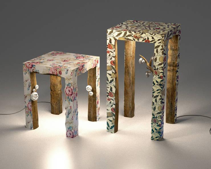 Table & console  semi-sauvage : Maison de style  par ColineMonnier Design