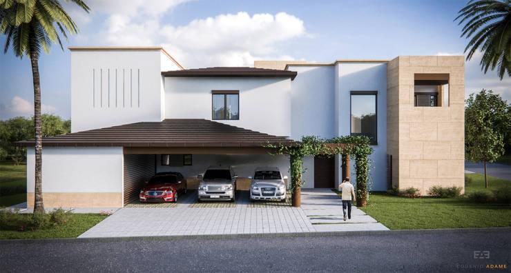 Casa en Las Misiones:  de estilo  por Eugenio Adame Arquitectos