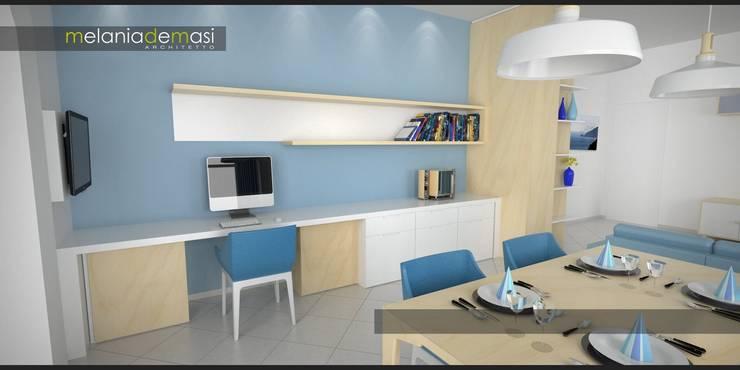 Living room by melania de masi architetto,
